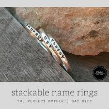 stackable mothers rings with names stackable name rings the s day gift wine in a