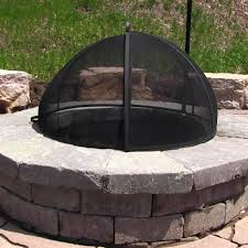 Fire Pit Logs by Sunnydaze Easy Access Fire Pit Spark Screen
