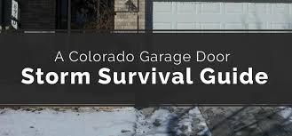 American Overhead Door Parts A Colorado Garage Door Survival Guide American Overhead Door