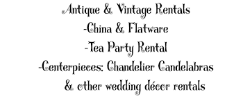 Wedding Decor Rental Christina U0027s Catering Social And Wedding Catering Vintage Rentals