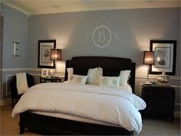 grey bedroom with dark furniture home design