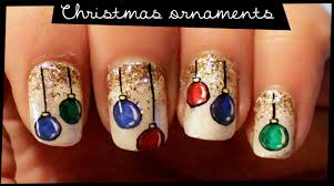 christmas ornaments nail art youtube