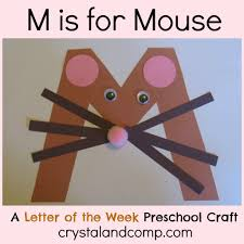 m is for mouse a letter of the week preschool craft mice