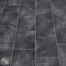 Black Tile Effect Laminate Flooring Vinyl Flooring Find Your Perfect Bathroom Or Kitchen Flooring