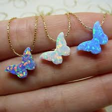 butterfly necklace aliexpress images 20pcs lot 925 sterling silver butterfly opal necklace colorful jpg