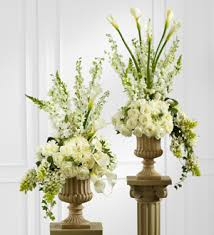 white flower centerpieces large mixed white flower arrangement antonio flowers miami fl