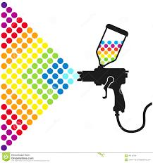 paint spray gun stock vector image 40119784