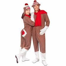 sock monkey costume fleece sock monkey costume with flap pajama city