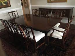 kindel mahogany dining set table 8 chippendale chairs