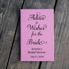 bridal shower guestbook engraved bridal shower guest book advice and wishes for the