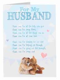 thank you husband anniversary card clintons