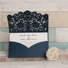 wedding invitation pockets graceful pearl white laser cut pocket wholesale wedding invitation