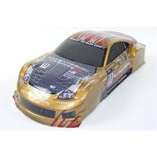 gold nissan car 1 10 scale drift car spare body nissan 350z gold