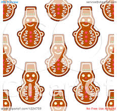 clipart of a seamless background pattern of snowman shaped