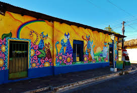 Painted Houses More Brightly Painted Houses Along The Ruta De Flores In Ataco
