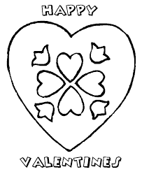flower happy valentines coloring pages valentine coloring pages