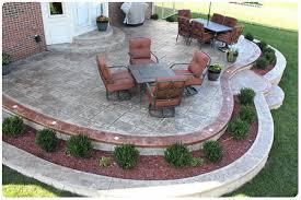 Patio Designs And Ideas For Small Areas 150 350 Sq Ft Patios raised concrete patio rochester mi stamped concrete biondo