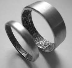 non metal wedding bands fingerprint non traditional wedding rings i seen this for