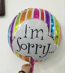 i m sorry balloons for delivery high quality new 18 inch colours say sorry foil balloons boys