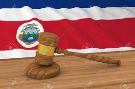 Flag Law Costa Rican Law Concept Flag Of Costa Rica Behind Judge U0027s Gavel