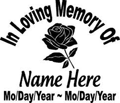 in loving memory dog tags in loving memory of dog tag 6 99 custom vinyl window decals