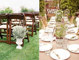 table decor and wedding ceremony ideas using herbs wedding