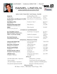 Pianist Resume Sample by Musical Theatre Resume Examples Musical Theatre Resume Sample