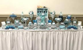 blue and silver wedding blue silver wedding candy buffet great service fresh
