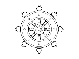 ship u0027s wheel coloring pages