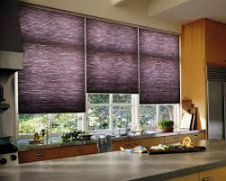 stylish purple kitchen window blinds used in the kitchen with