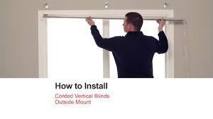 Installing Window Blinds Outside Mount Bali Blinds How To Install Corded Vertical Blinds Outside