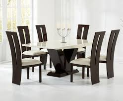 marble dining room table and chairs verbier 180cm cream and black v pedestal marble dining table with