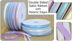 4 inch ribbon 1 4 inch sided satin ribbon with metallic edge