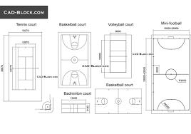 free autocad floor plans courts fields dimensions free autocad file download 2d cad plans