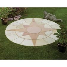 Circular Patios by Natural Sandstone Star Circle Kit 1 8m Ref Pics Pinterest