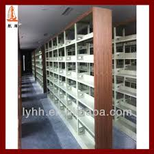 Metal Book Shelves by Modern Wood Double Side Library Book Store Metal Book Shelves