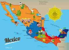 mexico on map map of mexico i ve been seeing a lot of maps like this with