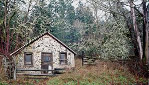 stone house saltspring island through a vintage lens