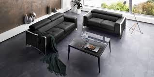 sofa schwarz couchgarnitur 3 2 1 ledersofa schwarz elsa