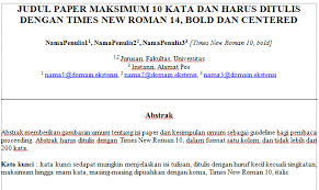 format artikel yang benar contoh format jurnal penelitian yang baik dan benar selamat