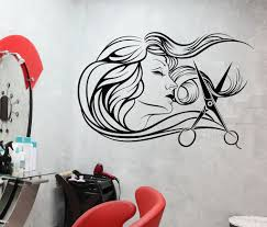 vinyl wall decal barbershop beauty salon hair stylist fashion vinyl wall decal barbershop beauty salon hair stylist fashion model stickers 699ig