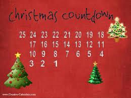 christmas countdown calendar free printable advent calendars