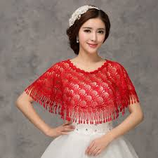 bridal capes cloaks crochet red lace wraps bridal cape wedding