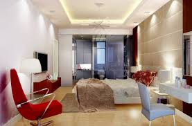 bedroom apartment interior with small bed application