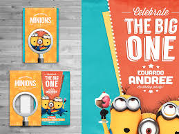 design stylish minions birthday invitation free with awesome