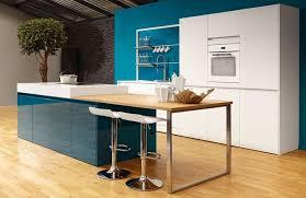 cuisine bleue et blanche emejing cuisine blanche mur bleu canard images design trends 2017