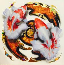 koi fish artwork feng shui royal
