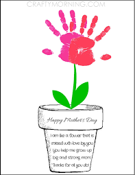 printable poem flower pot for mother u0027s day kids can syamp their