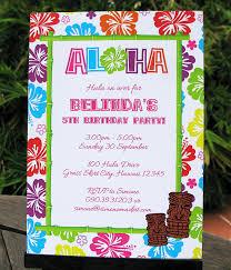 luau invitations luau birthday party invitations luau decorations