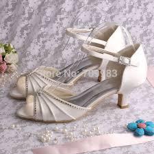 wedding shoes low heel ivory individually handmade ivory satin wedding shoes low heel open toes